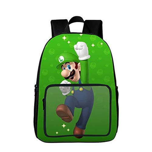 Wadaland Super Mario Rucksack für Kinder,Anime Cartoon Muster Grundschule Rucksack Mädchen Junge,Karikatur Verschleißfest Schultasche Rucksäcke Daypacks Tasche Backpack Sale (16IB8-105) (Anime Kind Mädchen)