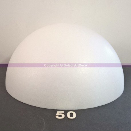 Lealoo® Demi-Sphère DE 50 cm de Diamètre, Dôme XXL Creux en Polystyrène DE 25 cm de Haut