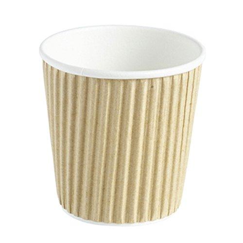 Kraft Ripple Einweg Papier Kaffeetassen 113,4g/120ml–Sleeve von 40–Hot Drink Cups