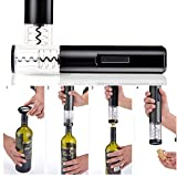 Automatic Wine Bottle Opener Electric Corkscrew Kit with Foil Cutter Battery Operated