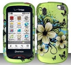 Pantech Hotshot 8992(Verizon) Hawaiian Flowers Design Hard Case Snap On Schutzfolie Cover + Gratis Magic Boden Kristall Geschenk