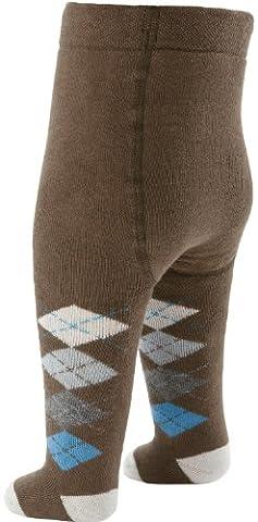 Baby Butt Thermo-Strumpfhose braun/blau Größe 50 / 56