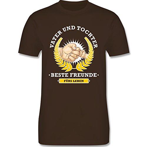 Shirtracer Vatertag - Vater und Tochter - Beste Freunde fürs Leben - Herren T-Shirt Rundhals Braun