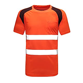 Breathable Top Lightweight Tape Workwear Shirts (ORANGR)
