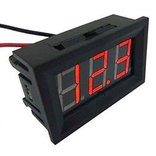 voltm/ètre imperm/éable /à affichage num/érique de CC 12V LED pour la voiture vitihipsy Voltm/ètre de voiture