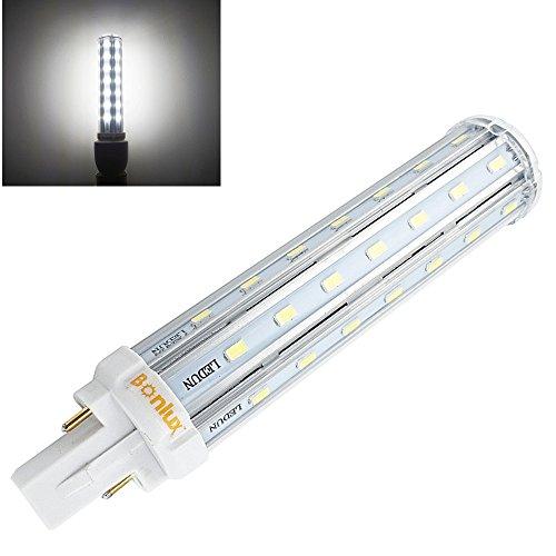 Bonlux 2-pin 13W G24 LED Bombilla De Luz Fría 6000k Con 360 Grados para Casa, Escuela, Oficina, Pasillo, Restaurante, Reemplazo de 30W CFL Bombilla