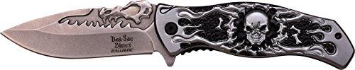 Dark Side Blades Taschenmesser,  Grauer Totenkopf, DS-A024GY
