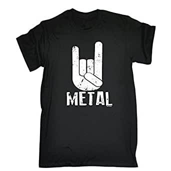 METAL (S - BLACK) NEW PREMIUM LOOSE FIT T-SHIRT - slogan funny clothing joke novelty vintage retro t shirt top men's ladies women's girl boy men women tshirt tees tee t-shirts shirts fashion urban cool geek rock hard pantera music till i die punk death to all but day for him her brother sister mum dad mummy daddy father mother birthday ideas gifts christmas present gift S M L XL 2XL 3XL 4XL 5XL - by Fonfella