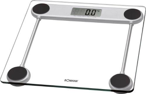 Bomann PW 1417 CB - Báscula de baño digital de cristal, medición 150kg y 100g