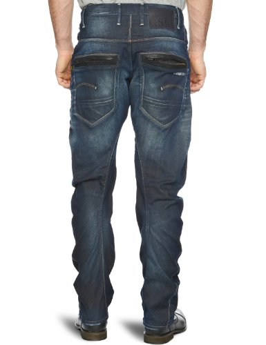 G-STAR Herren Jeans Riley 3D Tapered Blau (vintage aged 1368)