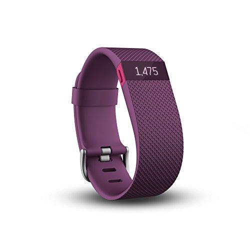 quality design 2777a b257b Fitbit Charge HR - Pulsera de actividad y ritmo cardíaco, color morado,  talla L