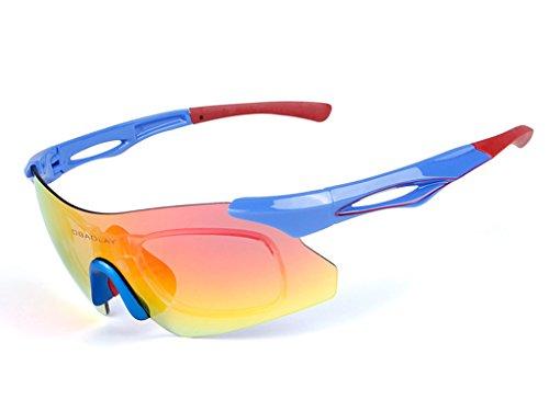 Aili occhiali da sole sportivi con uv400 per uomini donne esterni sport pesca ski driving golf corsa ciclismo campeggio,b