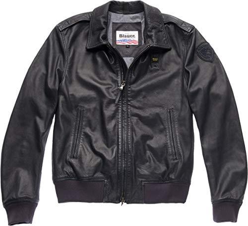 Blauer USA Smith Lederjacke Schwarz XL