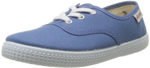 Victoria Inglesa Lona4, Baskets mode fille Bleu (Azul)