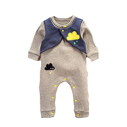 Baby Infant Toddlers Long Sleeve Cloud Print Rompers Jumpsuit Bodysuit