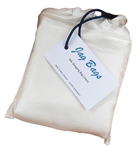 jagbag Deluxe Reine Seide Schlafsack Liner (weiß) (Seide Bogen Tasche)