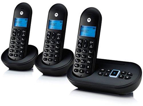 Motorola T113B Schnurlostelefon, 3-Packung schwarz