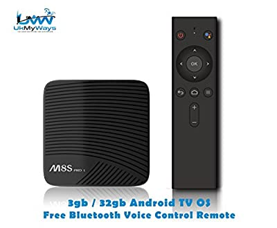 MECOOL M8S Pro L with Bluetooth Voice Control Controller 3gb/32gb OctaCore Android TV OS 4k Youtube 4k Netflix