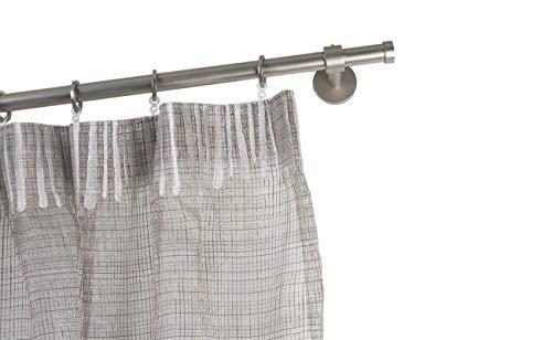 Incasa bastone per tende Ø 20 mm, l. 140 cm. in acciaio satinato - completo