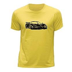 Stuff4 Jungen/Alter 7-8 (122-128cm)/Gelb/Rundhals T-Shirt/Schablone Auto-Kunst/One 1