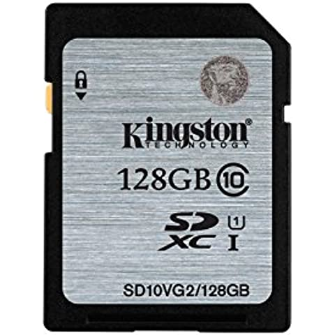 Kingston SD10VG2/128GB - Tarjeta SD UHS-I SDHC/SDXC (Clase 10 - 128GB)