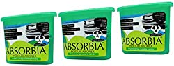ABSORBIA Moisture absorber & odor buster with activated charcoal Family Pack
