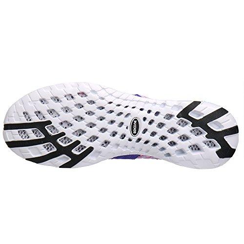 aleader Chaussures de maille antidérapant sur l'eau pour femme Purple76