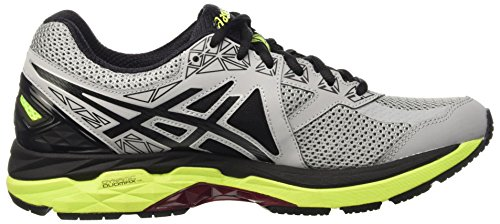 Asics Gt-2000 4, Chaussures de Sport Homme Multicolore (Midgrey/Black/Safety Yellow)
