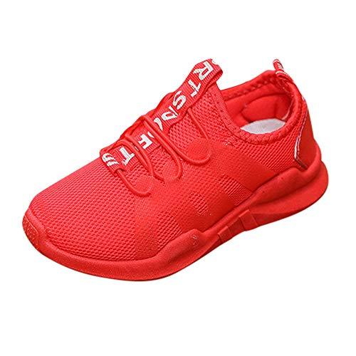 Linlink Unisex-Kinder Sneakers Jungen Mädchen Sneaker Outdoor Schuhe Jungen Turnschuhe Laufschuhe Schnürer Freizeit Schnürer Sportschuhe Sneaker
