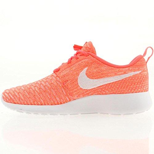 Nike Roshe Flyknit, Chaussures de running entrainement femme Pink/White