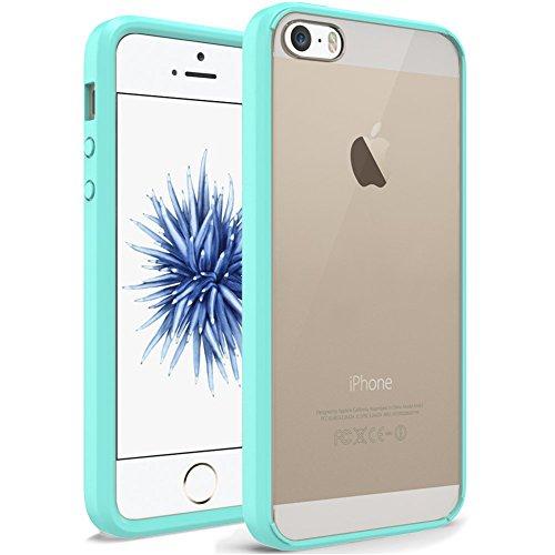 Protezione iPhone SUPTMAX SE [] [] SE minimalista iPhone-urti, colore: trasparente [] SE/paraurti per iPhone 5/5S, plastica, nero, iPhone SE/5S/5 Verde menta