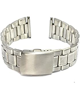MapofBeauty 22mm edelstahl Stahl Poliert Metall Armbanduhr Armbanduhr Gerade End Solid Links