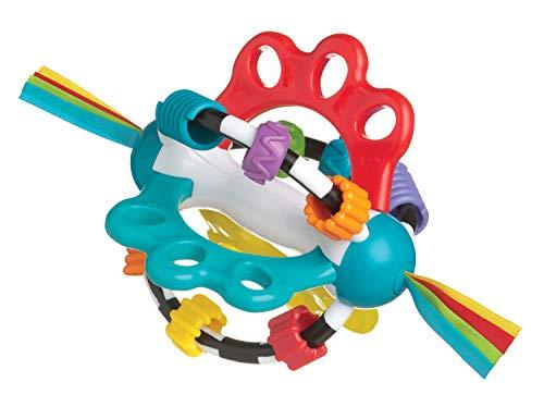 Playgro-4082426 Pelota de Actividades para bebé, Color Azul, Rojo, Blanco, Verde 4082426