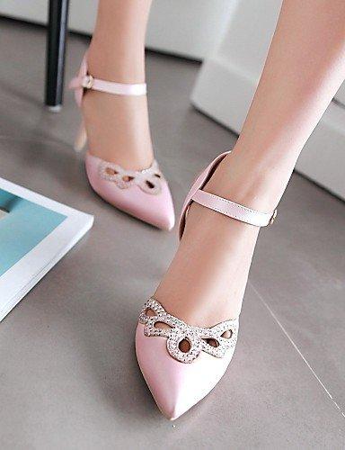 UWSZZ Die Sandalen elegante Komfort Donna-Scarpe Schuhe mit Absatz - Büro und Arbeit/Casual-Tacchi/Bequem/EIN TIPP - mandrin - Microfibra-Blu/Rosa/Weiß Blue