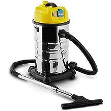 Klarstein Reinraum • Aspirador industrial • En seco y húmedo • 3400 W • Apagado automático • Soplador • Recipiente de acero inoxidable de 30 L • Protección IP44 • Múltiples accesorios • Amarillo