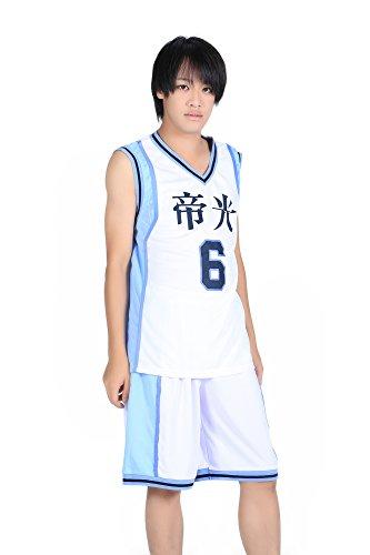 De-Cos Cosplay Costume Teikou Middle School No. 6 Aomine Daiki Jersey Set V2