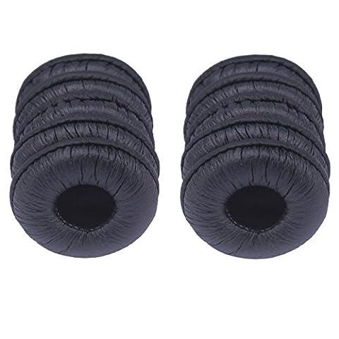 Bingle Coussinets de rechange en similicuir de rechange pour Plantronics Supra Plus encore et la plupart des casques Taille standard Bureau Téléphone H251H251N H261H261N H351H351N H361H361N (Lot de 10) (bec-lth10)