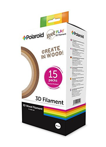 Polaroid kit filamento 3d play pen-legno in 3 finiture, 3d-fp-pl-2501-00