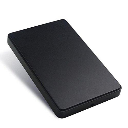 Caso para Discos duros externos 1tb baratos pequeños USB3.0 Sannysis External Hard Drives discos duros portatiles multimedia FUNDA para windows 98/2000/XP/Vista/Windows7 (Negro)