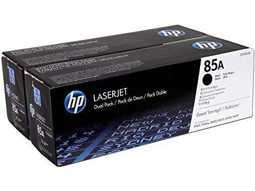 HP 85A CE285AD pack de 2, toners Authentiques, imprimantes HP LaserJet Pro M1132/M1212/M1217/P1102/P1104/P1106, Noir