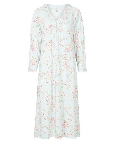 Slenderella stampa floreale manica lunga camicia da notte Mint