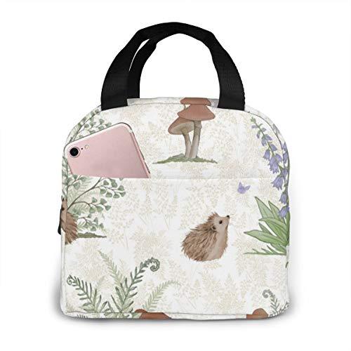 Qing_II Märchenbuch Igel Kühltasche Lunch Tote Cooler Bag Lunch-Taschen Kühltaschen Boxen -