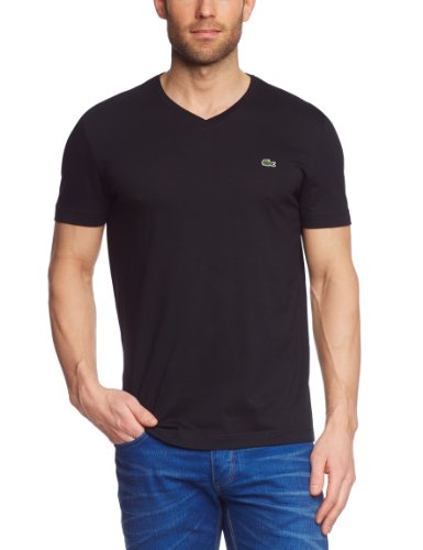 Lacoste Herren T-Shirt TH2036-00 Schwarz (BLACK 031) 60 (3XL/9) -