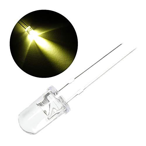 100 Stück LED 5 mm Klar Gewölbt Rund Warm Weiß 5 Mm-dioden