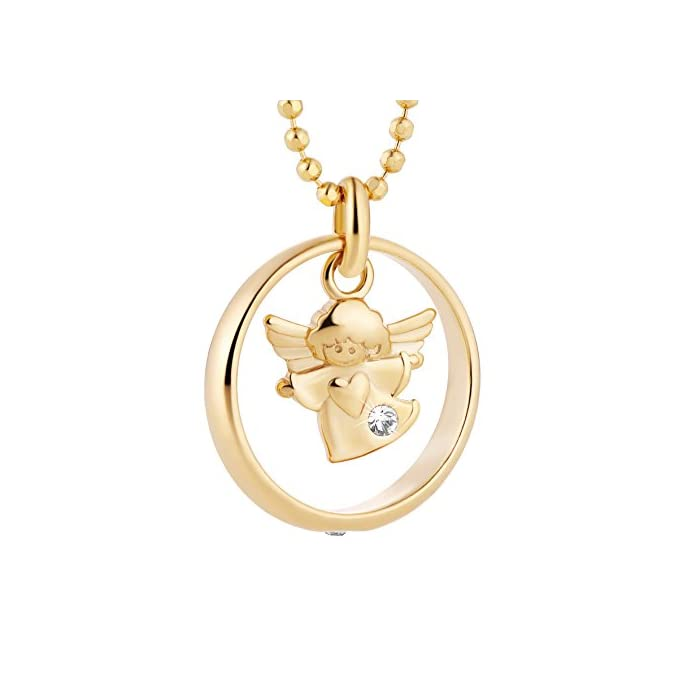 fish Mädchen Taufring Silber Gold Beschichtet Taufkette Geschenkverpackung Baby Geschenk