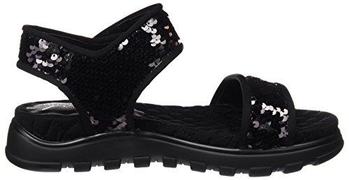 Coolway 10065060700038, Sandali con cinturino alla caviglia Donna Nero (Abk / Coco)