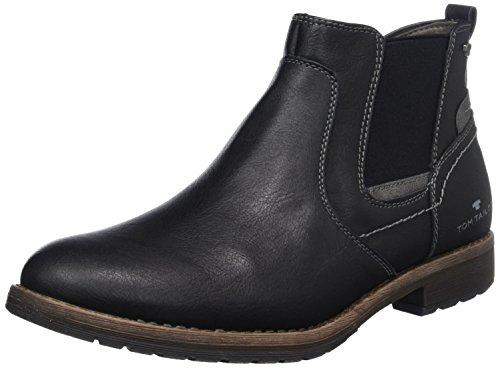 TOM TAILOR Herren 3781602 Chelsea Boots, Schwarz (Black), 42 EU
