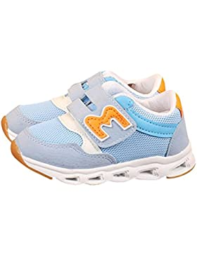 BBestseller Zapatos de Bebé,Niños Kids Chicas Chicos Mesh Carta LED Luminoso Zapatos Zapatillas de Deporte Velcro...