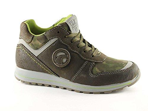 PRIMIGI 26800 36/40 camouflage chaussures de bébé milieu de dentelles de sneakers Verde