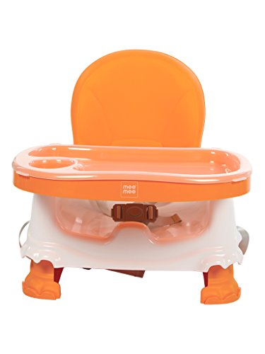 Mee Mee Foldable Booster Seat with Feeding Tray, Orange